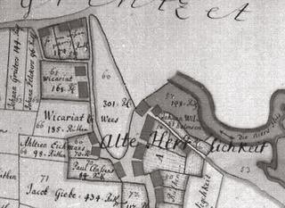 Alte Herrlichkeit (old fiefdom), plot 60, Owner: Ahltien Eichmans, excerpt from a map of the Cleves Land Registry, here fiefdom Wissen, folio 4, 1731/32.