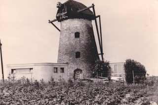 Conversion of the windmill to a dwelling house, about 1960, view from the east
