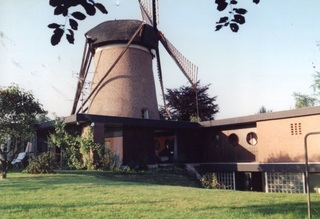 The mill around 1990, view from the south-west