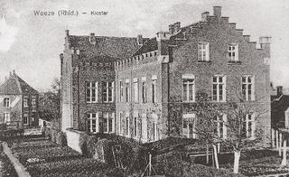 The commonly known 'nunnery', Sankt-Theresien-Stift, a postcard-view from around 1900