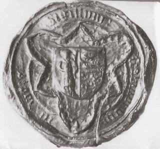 Seal of the Court of Weeze, which was used between 1446 to 1630.